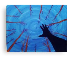 Hand Silhouette and Trees Canvas Print