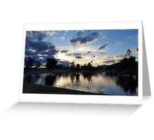 sky and water Greeting Card