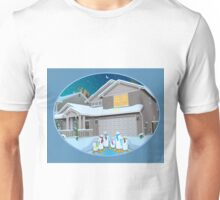 Holiday Snow Penguins Unisex T-Shirt