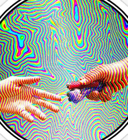 Trippy Handing Pipe Sticker