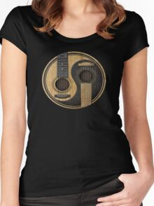 Acoustic Guitars Yin Yang Women's Fitted Scoop T-Shirt