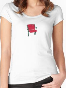 The Lone Red Seat - Red Sox - Fenway Park Women's Fitted Scoop T-Shirt