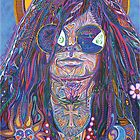 Janis Joplin Portrait / Sun Goddess by David Sanders