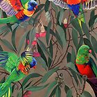 Birds from Paradise. Rosellas by Tatyana Binovskaya