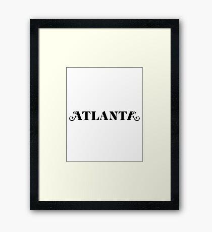 atlanta tv show  Framed Print