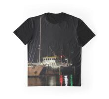 Green white and red lights on the water Graphic T-Shirt