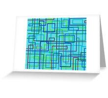 Retro-style pattern, hand-drawn Greeting Card