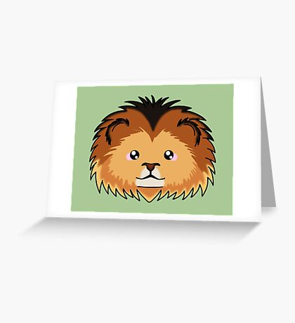 Lion - African Wildlife Greeting Card