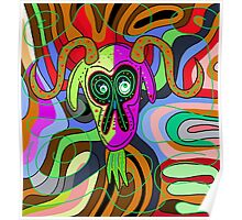 Colorful goat Poster