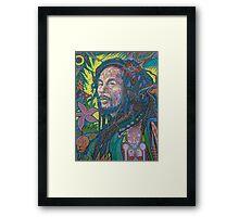 Rasta Sun God Framed Print