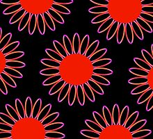 Big Red Daisy Abstract by ELVSmith03