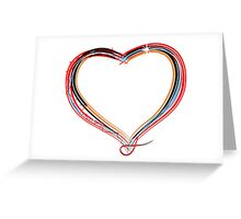 Funky heart illustration Greeting Card
