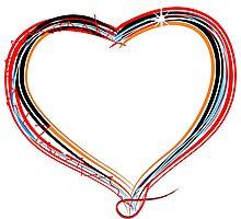 Funky heart illustration Photographic Print