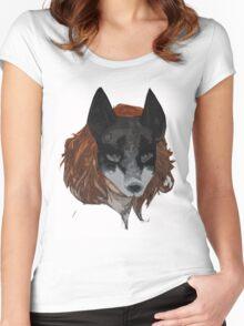 Kitsune - Fox Mask Women's Fitted Scoop T-Shirt