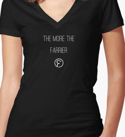 The More The Farrier - Farrier Bar & Supper Club Women's Fitted V-Neck T-Shirt