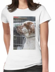 cute dog Womens Fitted T-Shirt