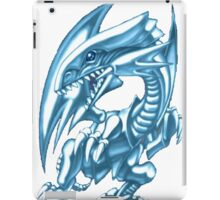 blue eyes white dragon yugioh iPad Case/Skin
