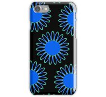 Big Blue Daisy Abstract iPhone Case/Skin