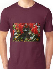 Red flowers texture Unisex T-Shirt