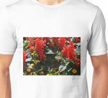 Red flowers texture Unisex T-Shirt
