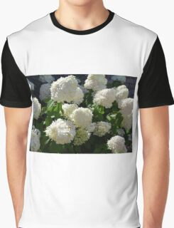 Natural background with bunch of white flowers Graphic T-Shirt