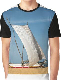 Catamaran, Negombo Beach, Sri Lanka Graphic T-Shirt