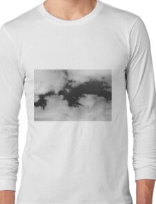 White clouds on a black sky Long Sleeve T-Shirt