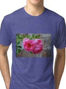 Group of pink roses Tri-blend T-Shirt