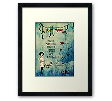A Dream and A Miracle Framed Print