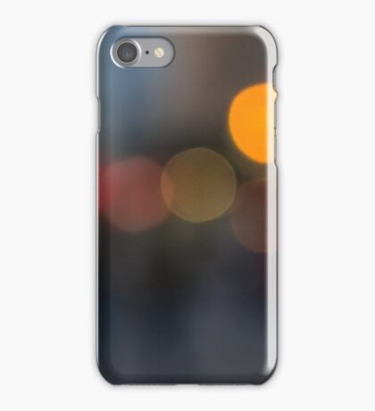 defocused light city street in evening iPhone Case/Skin