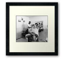 Cuban Barber Framed Print