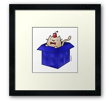 Whovian Cat Framed Print