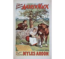 Performing Arts Posters The singing comedian Andrew Mack in the greatest of Irish plays Myles Aroon 0733 Photographic Print