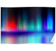 abstract blur and reflection of red and blue radiance of flame Poster