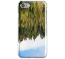abstract autumn pine forest reflection in river iPhone Case/Skin