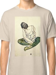 Egon Schiele - Seated Woman With Green Stockings  Classic T-Shirt