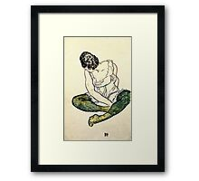 Egon Schiele - Seated Woman With Green Stockings  Framed Print
