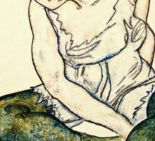 Egon Schiele - Seated Woman With Green Stockings  Sticker