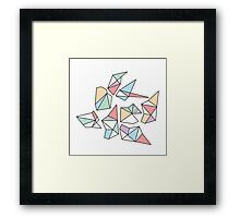 Polygonal fun Framed Print