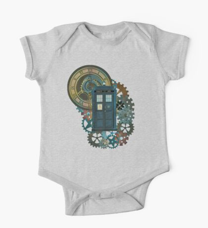 TARDIS Art Doctor Who  One Piece - Short Sleeve