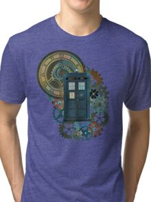 TARDIS Art Doctor Who  Tri-blend T-Shirt