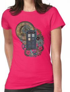 TARDIS Art Doctor Who  Womens Fitted T-Shirt