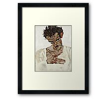 Egon Schiele - Self Portrait with Lowered Head (1912)  Framed Print