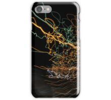 abstract curvy web like light trails iPhone Case/Skin