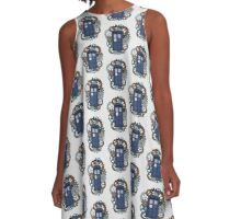 The TARDIS, a flight through Time A-Line Dress