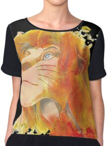 The King of Jungle Chiffon Top