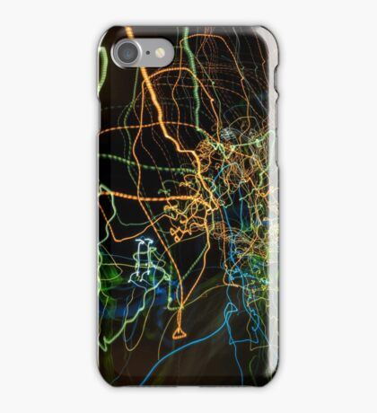 abstract curvy web like light traces iPhone Case/Skin