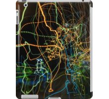 abstract curvy web like light traces iPad Case/Skin