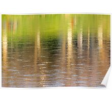 abstract autumn trees reflection in water Poster