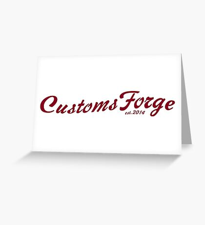 CustomsForge old-timey logo Greeting Card